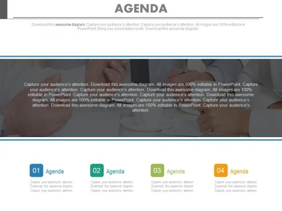 Agenda Chart For Company Vision Powerpoint Slides