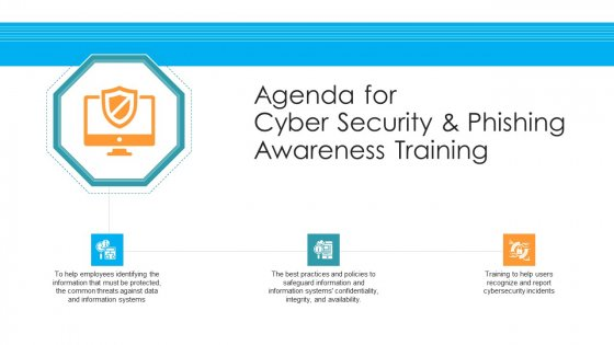 Agenda For Cyber Security And Phishing Awareness Training Hacking Prevention Awareness Training For IT Security Sample PDF