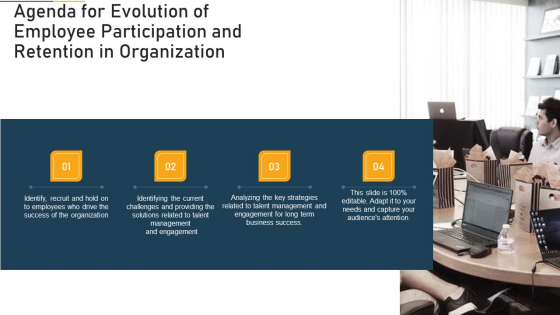 Agenda For Evolution Of Employee Participation And Retention In Organization Ppt Ideas Aids PDF