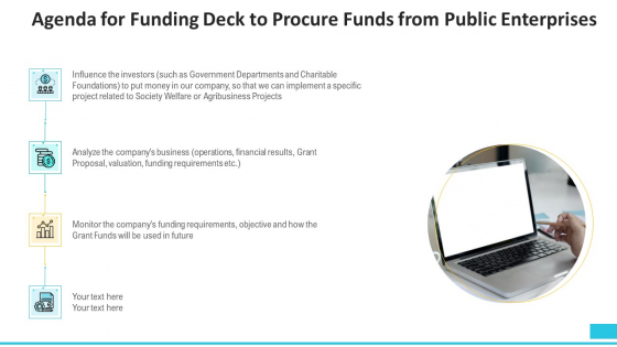 Agenda For Funding Deck To Procure Funds From Public Enterprises Topics PDF