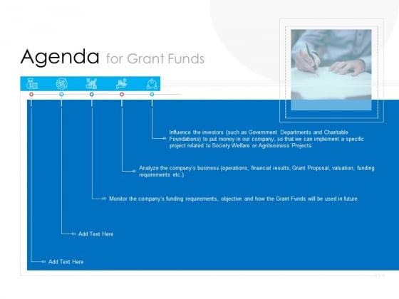 Agenda For Grant Funds Demonstration PDF