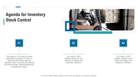 Agenda For Inventory Stock Control Ppt File Styles PDF