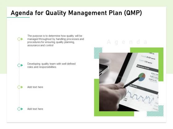 Agenda For Quality Management Plan QMP Topics PDF