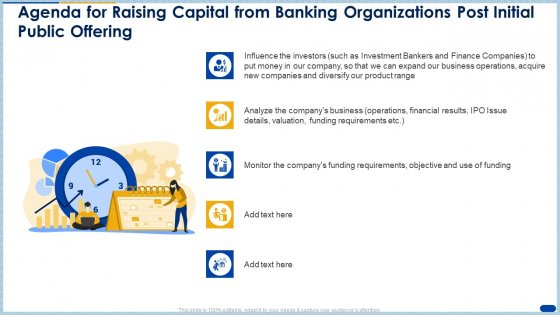 Agenda For Raising Capital From Banking Organizations Post Initial Public Offering Inspiration PDF