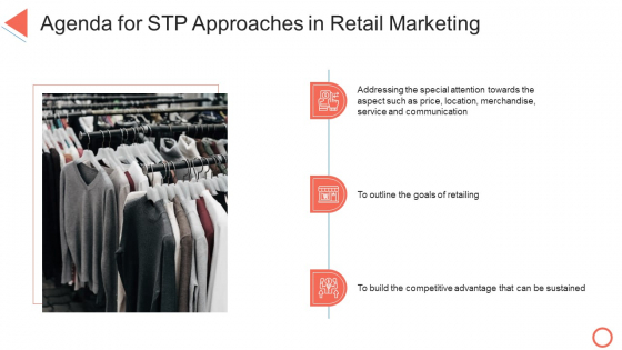 Agenda For STP Approaches In Retail Marketing Ppt File Background Designs PDF