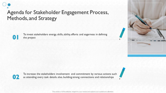 Agenda For Stakeholder Engagement Process Methods And Strategy Themes PDF