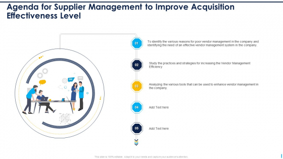 Agenda_For_Supplier_Management_To_Improve_Acquisition_Effectiveness_Level_Ideas_PDF_Slide_1