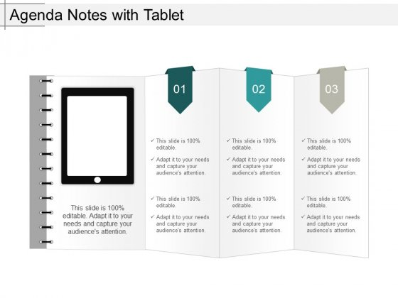 Agenda Notes With Tablet Ppt PowerPoint Presentation Slides Rules