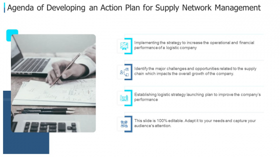 Agenda_Of_Developing_An_Action_Plan_For_Supply_Network_Management_Designs_PDF_Slide_1