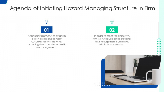 Agenda Of Initiating Hazard Managing Structure In Firm Ppt Styles Topics PDF