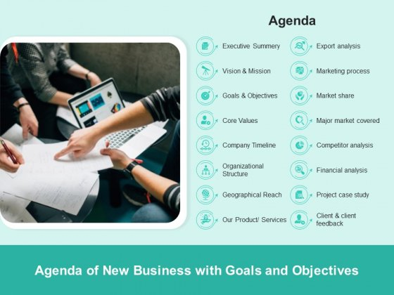 Agenda_Of_New_Business_With_Goals_And_Objectives_Ppt_PowerPoint_Presentation_File_Backgrounds_PDF_Slide_1