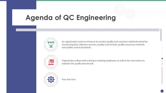 Agenda Of QC Engineering Ppt Layouts Layout PDF