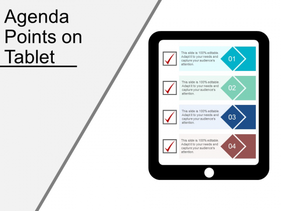 Agenda Points On Tablet Ppt PowerPoint Presentation Portfolio Outfit