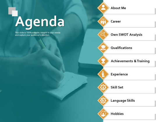 Agenda Qualifications Ppt PowerPoint Presentation Inspiration Graphics Pictures