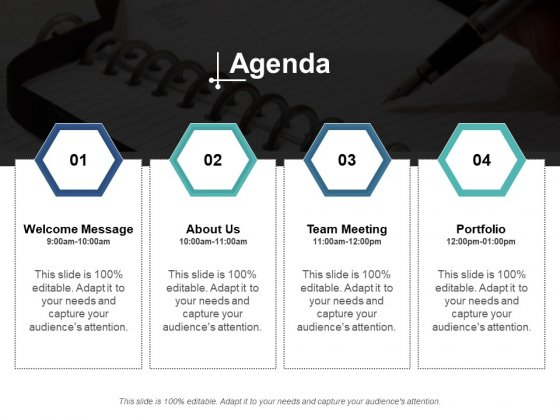 Agenda Team Meeting Portfolio Ppt PowerPoint Presentation Slides Gallery