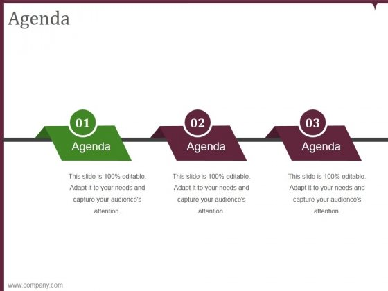 agenda template 1 ppt powerpoint presentation sample