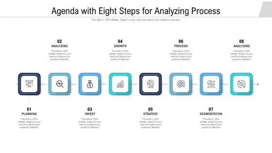 Agenda With Eight Steps For Analyzing Process Ppt Ideas Objects PDF