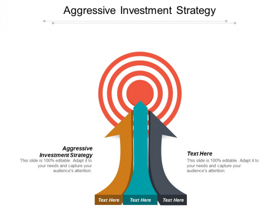 Aggressive Investment Strategy Ppt PowerPoint Presentation Show Layout Ideas
