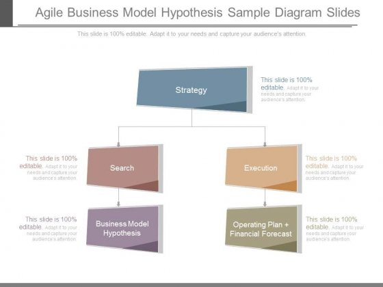 Agile Business Model Hypothesis Sample Diagram Slides