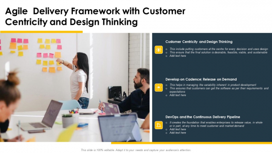 Agile Delivery Framework With Customer Centricity And Design Thinking Ppt Summary Samples PDF