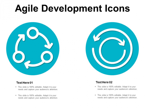 Agile Development Icons Ppt PowerPoint Presentation Pictures Elements