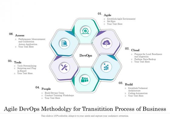 Agile Devops Methodolgy For Transitition Process Of Business Ppt PowerPoint Presentation File Portrait PDF