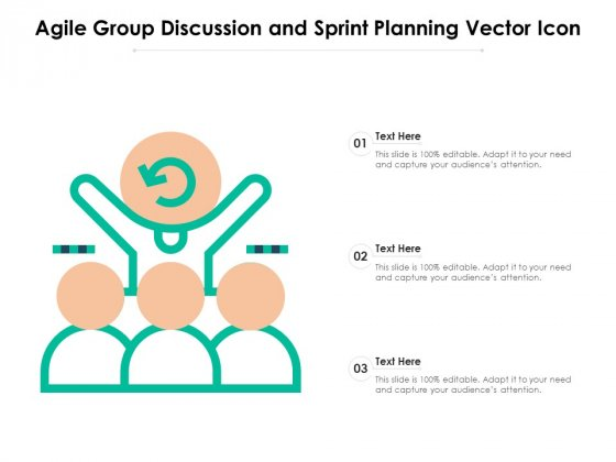 Agile_Group_Discussion_And_Sprint_Planning_Vector_Icon_Ppt_PowerPoint_Presentation_Styles_Objects_PDF_Slide_1