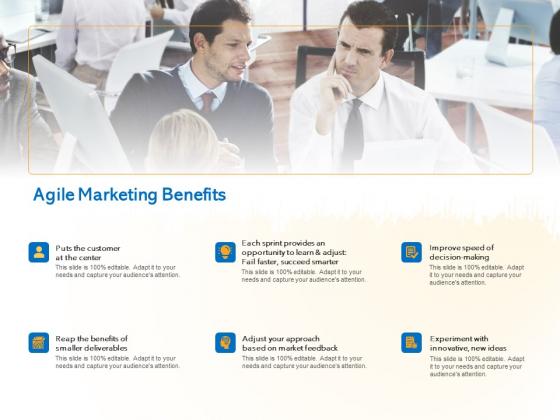 Agile Marketing Approach Agile Marketing Benefits Ppt Ideas Files PDF