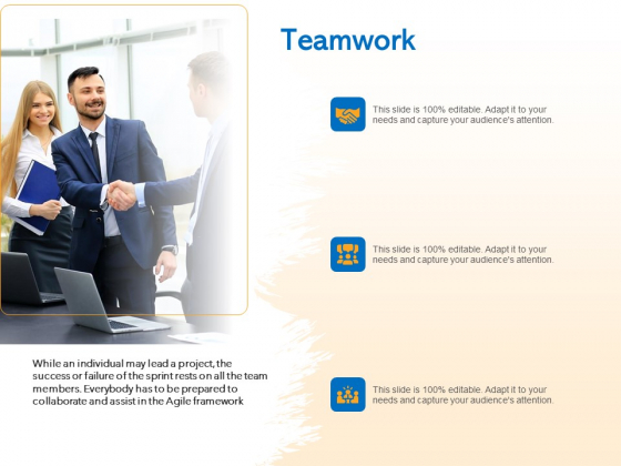 Agile Marketing Approach Teamwork Ppt File Topics PDF