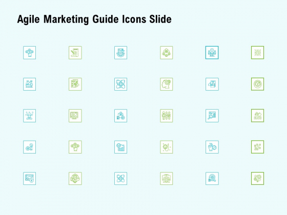 Agile Marketing Guide Icons Slide Ppt Infographic Template Graphic Images PDF