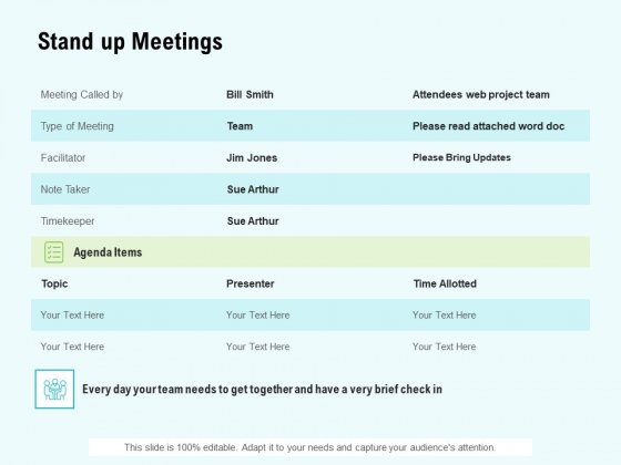 Agile Marketing Guide Stand Up Meetings Ppt File Example PDF