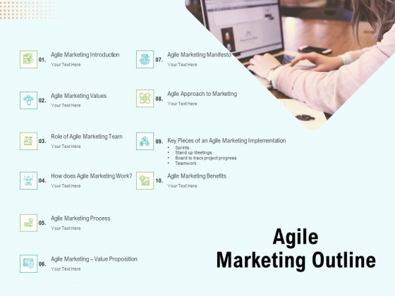 Agile Marketing Outline Ppt Ideas Graphics Template PDF
