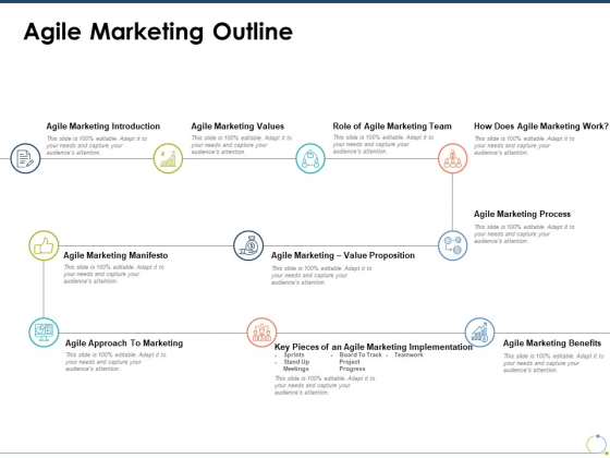 Agile Marketing Outline Ppt PowerPoint Presentation Ideas Graphics Example