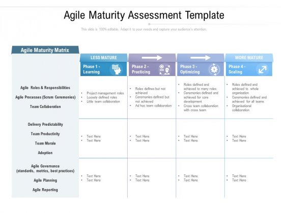 Agile Maturity Assessment Template Ppt PowerPoint Presentation Inspiration Templates