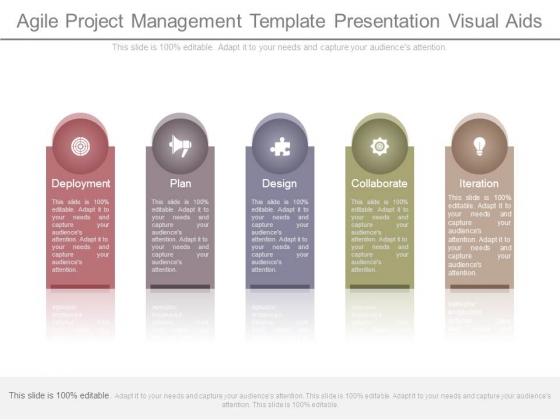 Agile Project Management Template Presentation Visual Aids