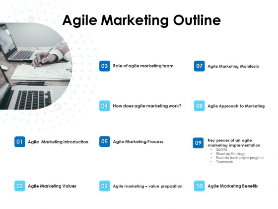 Agile Scrum Marketing Agile Marketing Outline Ppt Inspiration Background Images PDF