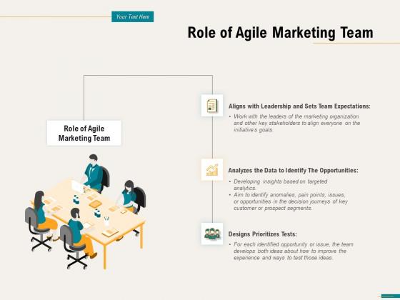 Agile Sprint Marketing Role Of Agile Marketing Team Ppt File Graphic Tips PDF