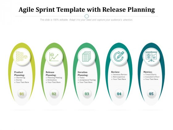 Agile Sprint Template With Release Planning Ppt PowerPoint Presentation Professional Outline PDF