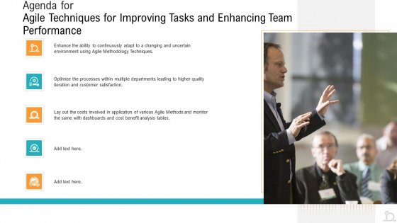 Agile_Techniques_For_Improving_Tasks_And_Enhancing_Team_Performance_Ppt_PowerPoint_Presentation_Complete_Deck_With_Slides_Slide_2