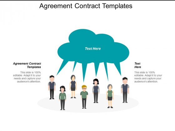 Agreement Contract Templates Ppt PowerPoint Presentation Ideas Structure Cpb