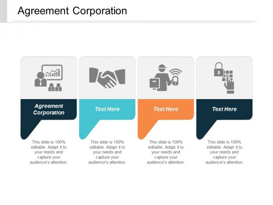 Agreement Corporation Ppt PowerPoint Presentation Model Graphics Tutorials Cpb