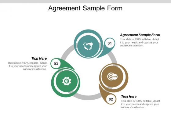 Agreement Sample Form Ppt PowerPoint Presentation File Display