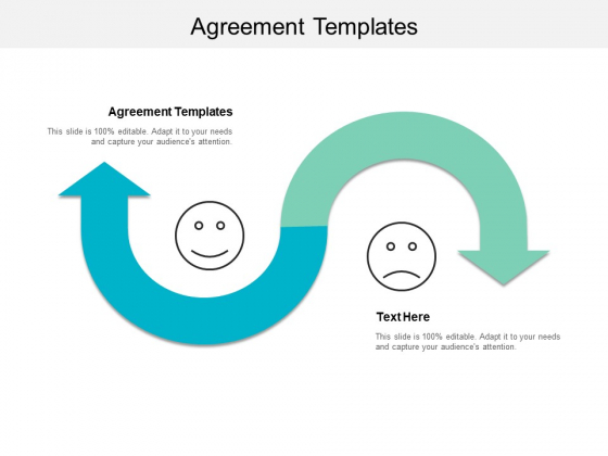 Agreement Templates Ppt PowerPoint Presentation Icon Background Image Cpb