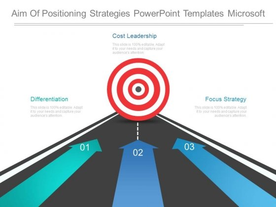 Aim Of Positioning Strategies Powerpoint Templates Microsoft