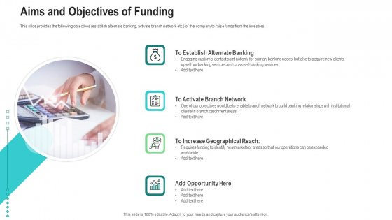 Aims And Objectives Of Funding Ppt Gallery Introduction PDF