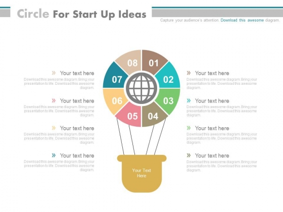 Air Balloon For Start Up Ideas Powerpoint Template