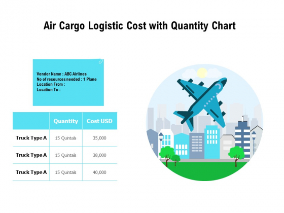 Air Cargo Logistic Cost With Quantity Chart Ppt PowerPoint Presentation Ideas Clipart Images PDF