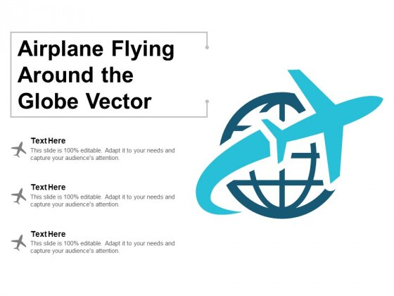 Airplane Flying Around The Globe Vector Ppt PowerPoint Presentation Templates