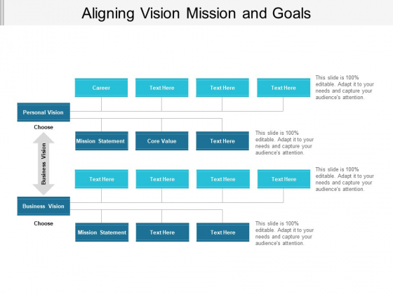Aligning Vision Mission And Goals Ppt Powerpoint Presentation Portfolio Icons