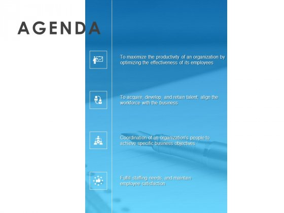 All About HRM Agenda Organization Ppt Outline Example PDF
